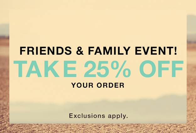 shopbop friends and family