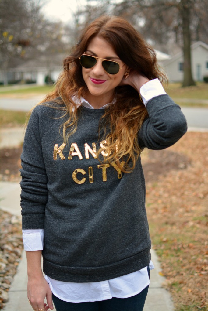 Ashley from LSR in a LocalE sweatshirt