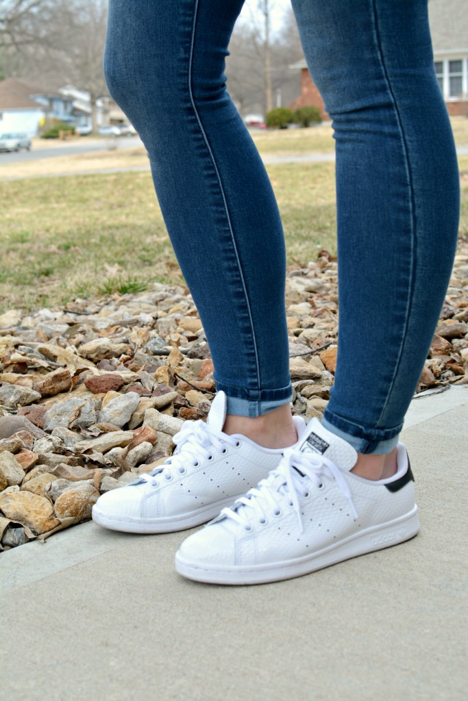Ashley from LSR in Stan Smith sneakers