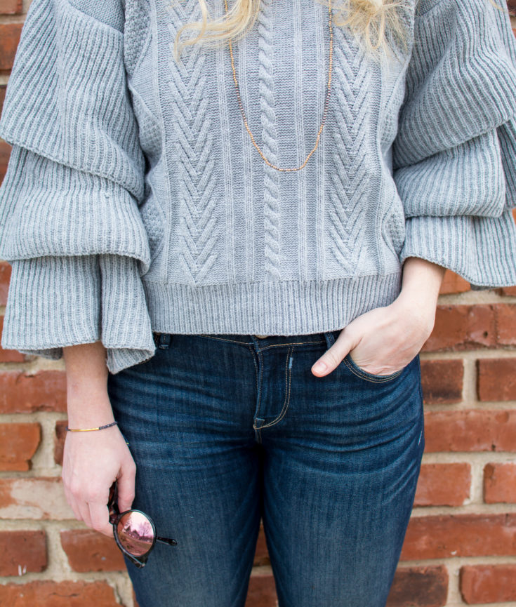 Sweater with Super Ruffles. | Ashley from Le Stylo Rouge