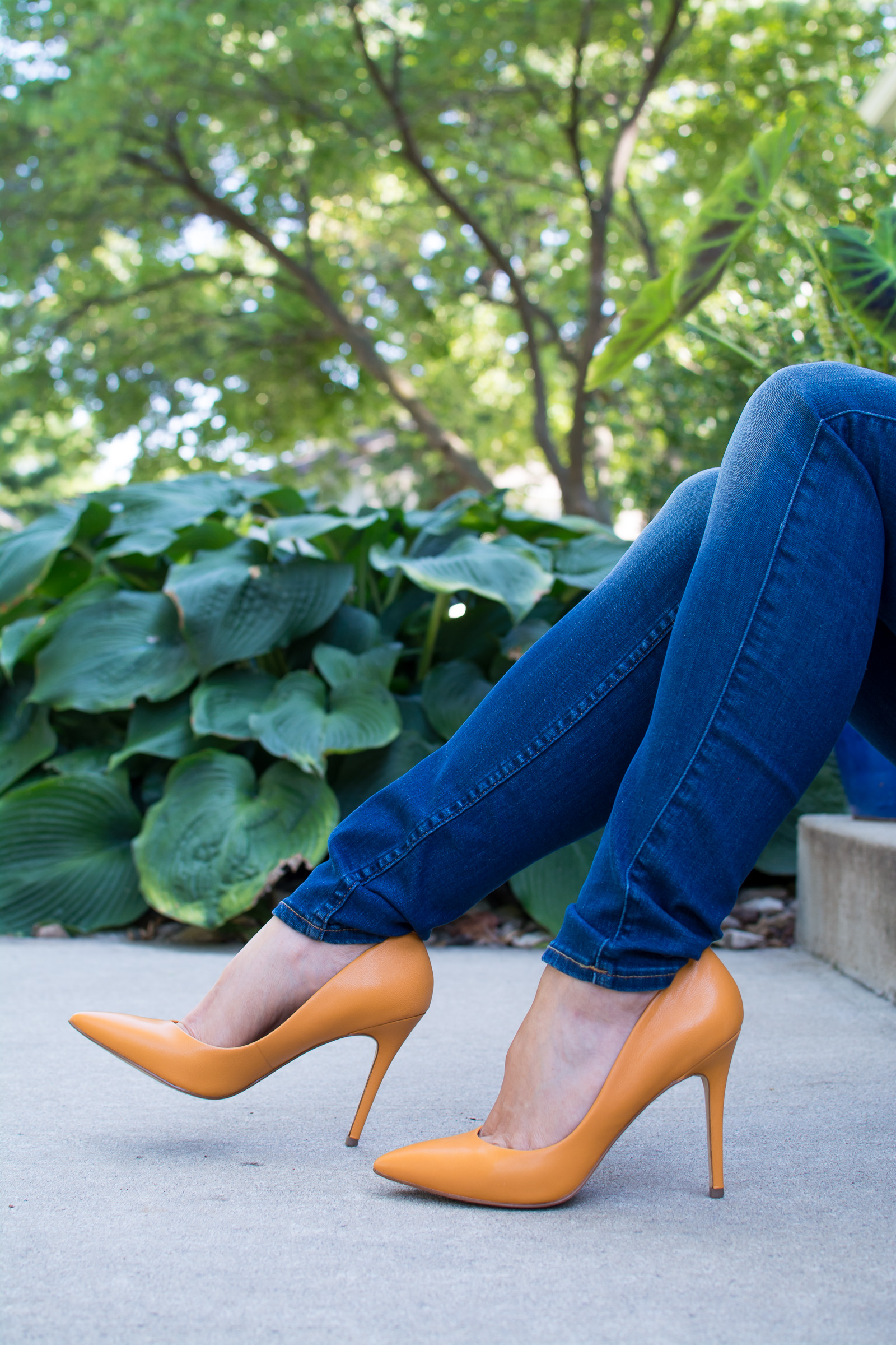 Orange Pumps for Early Fall. | Ashley from LSR
