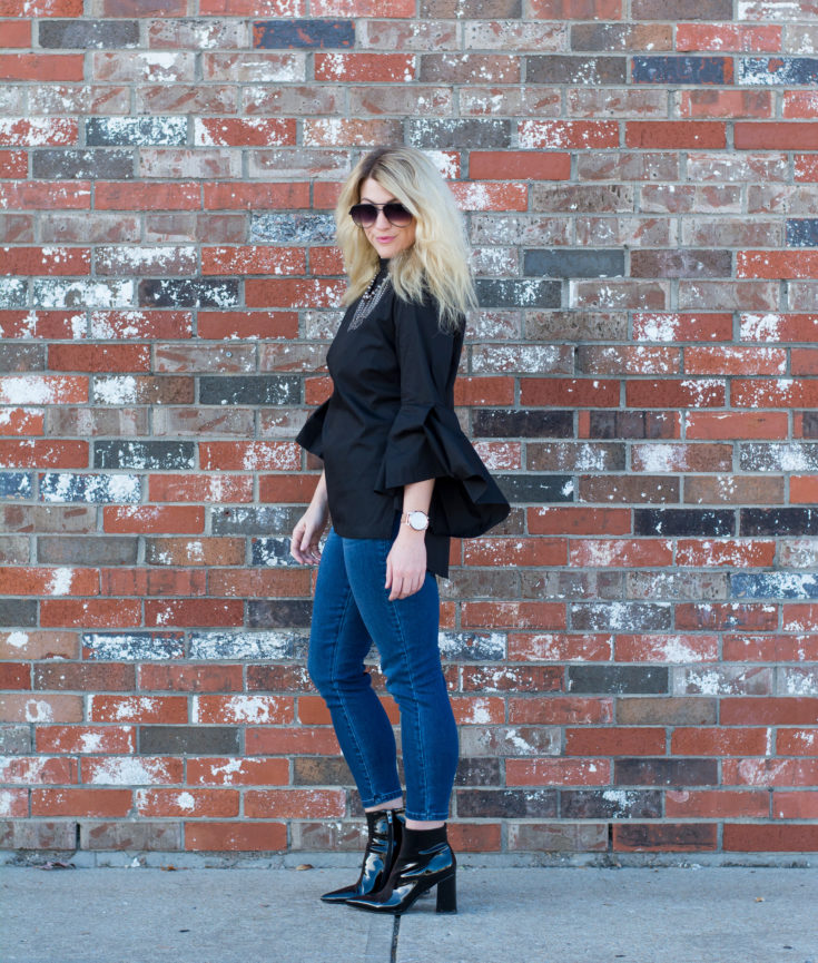 Black Bell Sleeves and Space Boots. | Ashley from LSR