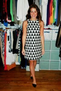 mod shift dress, d'orsay flats