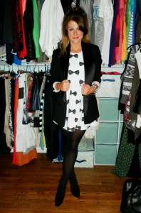 isabel marant for h&m blazer, bow dress,