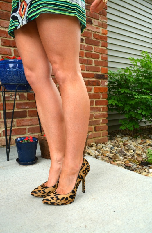 leopard pumps, willow & clay mini skirt, ashley from lsr