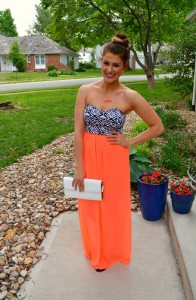 cc lake neon nights dress, dolce vita bow sandals, ashley from lsr, bauble bar signature necklace