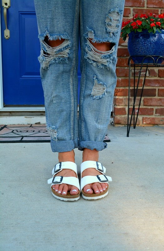 white birkenstocks, one teaspoon awesome baggies, ashley from lsr