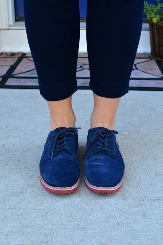 tommy hilfiger blue brogues, ashley from lsr