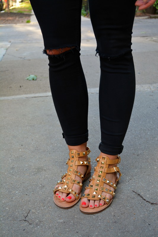 topshop jamie jeans, rebecca minkoff studded sandals, ashley from lsr