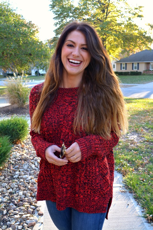 ashley from lsr, red express sweater