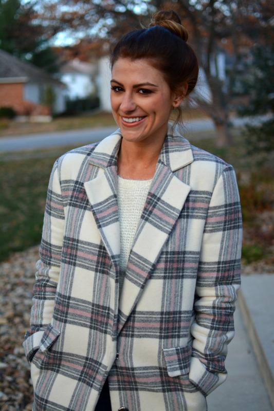 ashley from lsr, asos plaid coat