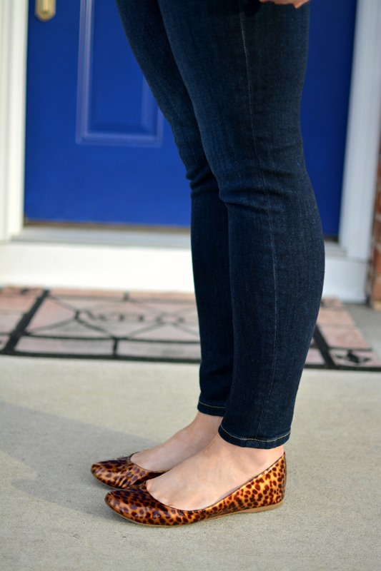 ashley from lsr, jcrew tortoiseshell flats, joe's jeans