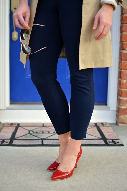 ashley from lsr, jcrew minnie pant, ninewest martina pumps