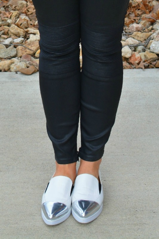 ashley from lsr, madewell coated jeans, white asos flatforms