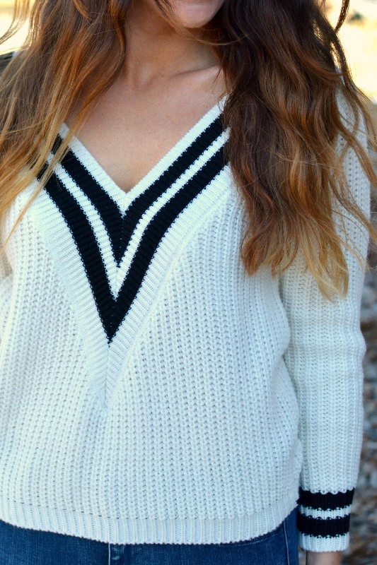 ashley from lsr, varsity sweater