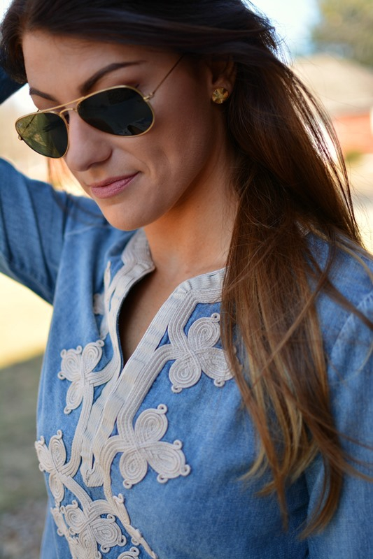 ashley from lsr, jcrew denim tunic