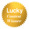 lucky contest winner badge