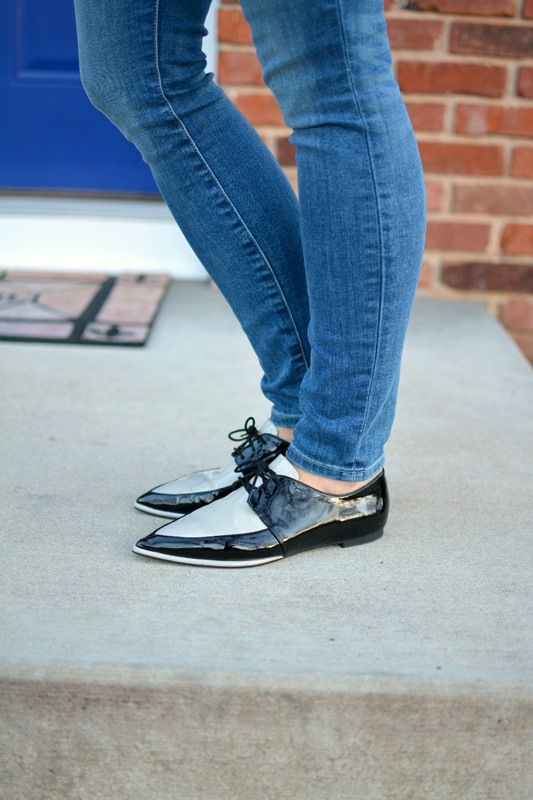 ashley from lsr, gap resolution jeans, zara tuxedo flats