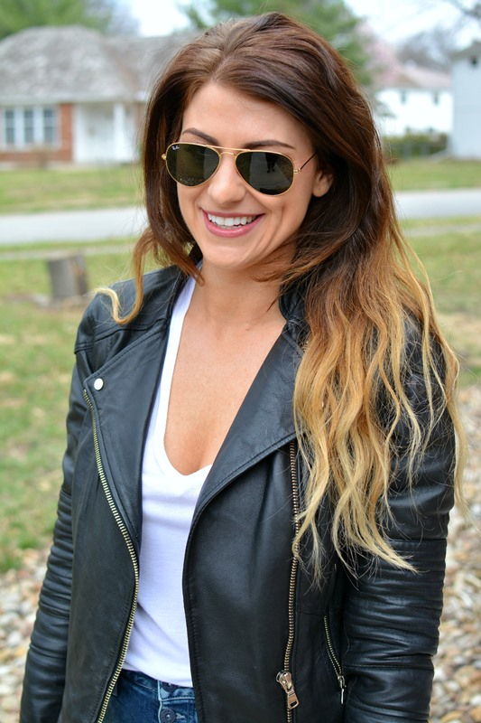 ashley from lsr, biker jacket