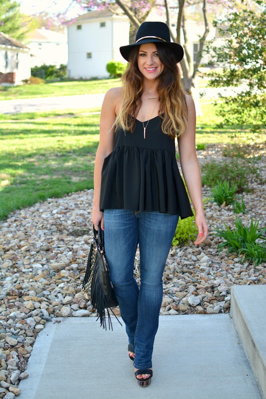 ashley from lsr, tibi silk ruffle tank, baldwin denim, janessa leone stephan hat, rebecca minkoff rylan tote