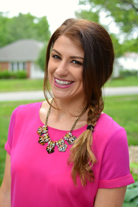 ashley from lsr, sioni tulip twist top, bauble bar tortoise necklace