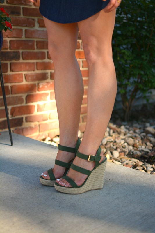 ashley from lsr, olive green wedges
