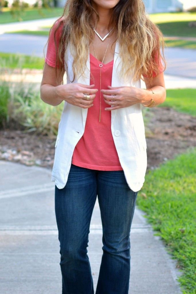 ashley from lsr, express flares, bb dakota white vest