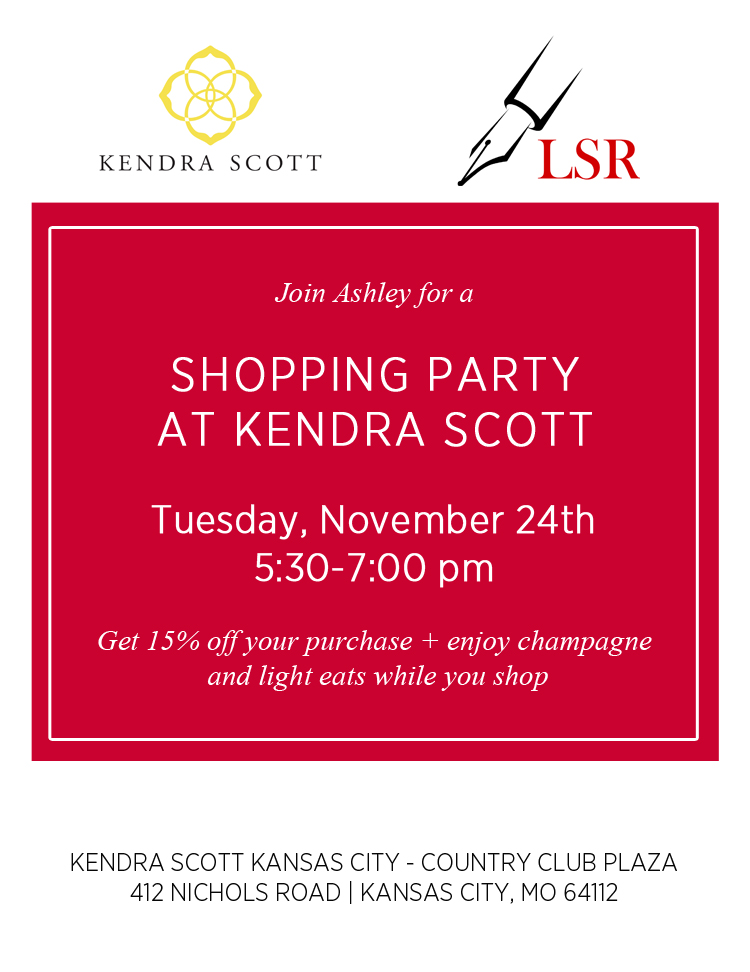 ashley from lsr hosts kendra scott shopping event