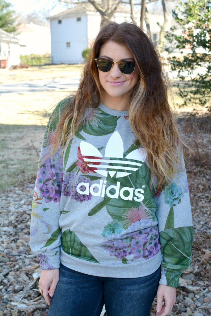 Ashley from LSR in an Adidas sweatshirt