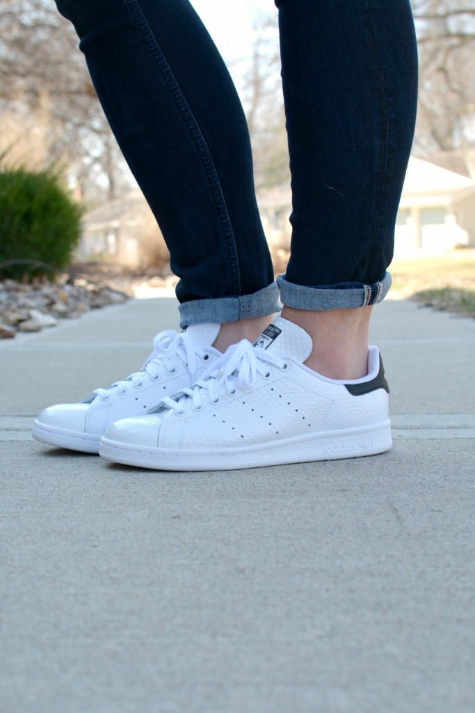 Ashley from LSR in Adidas Stan Smith sneakers