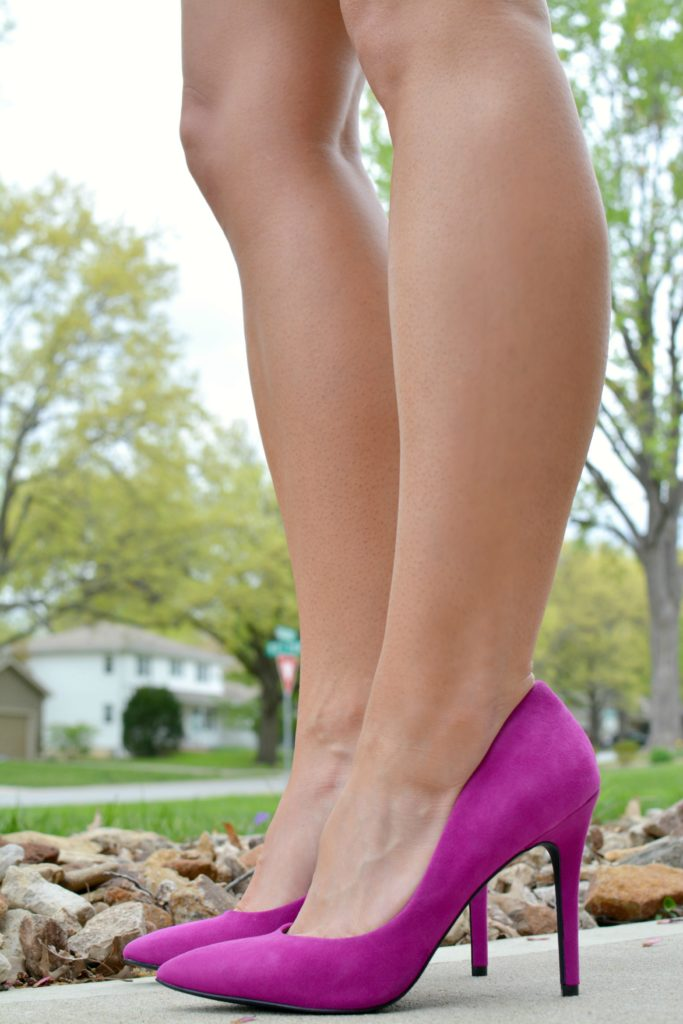 Ashley from LSR in fuchsia pumps