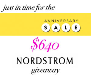Nordstrom giveaway from LSR + friends