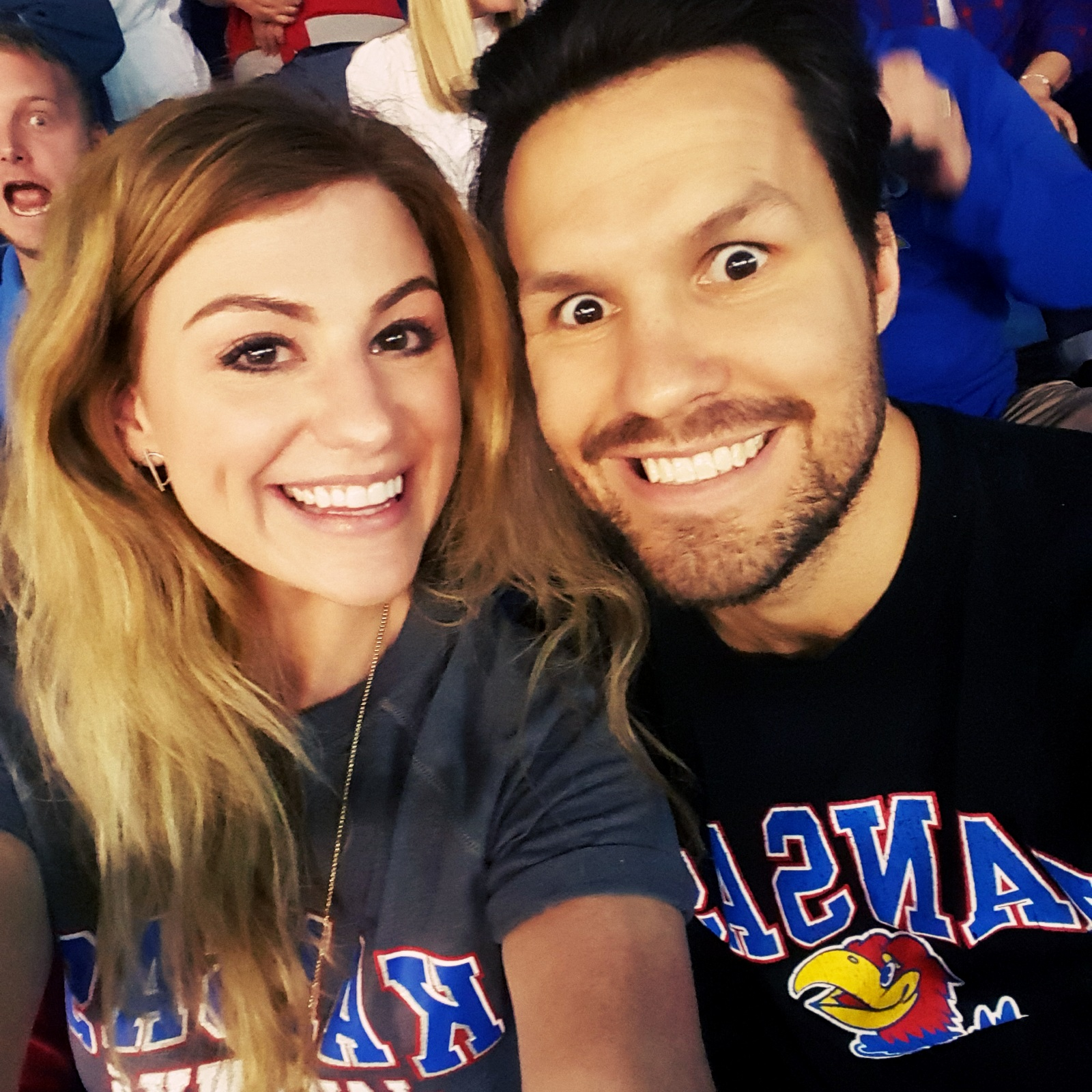 ashley and dave at ku game