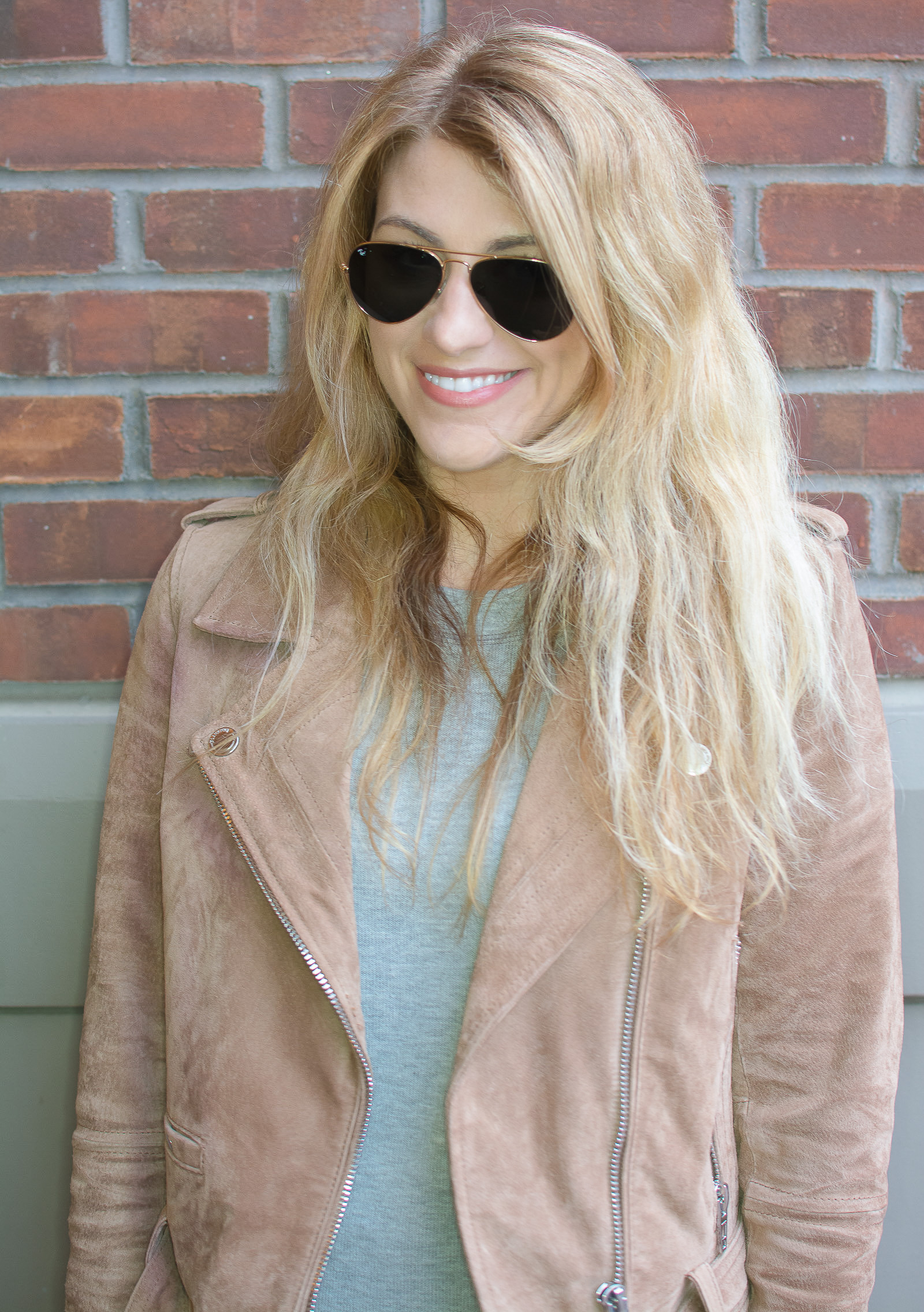 Ashley from LSR in a Blank NYC suede jacket
