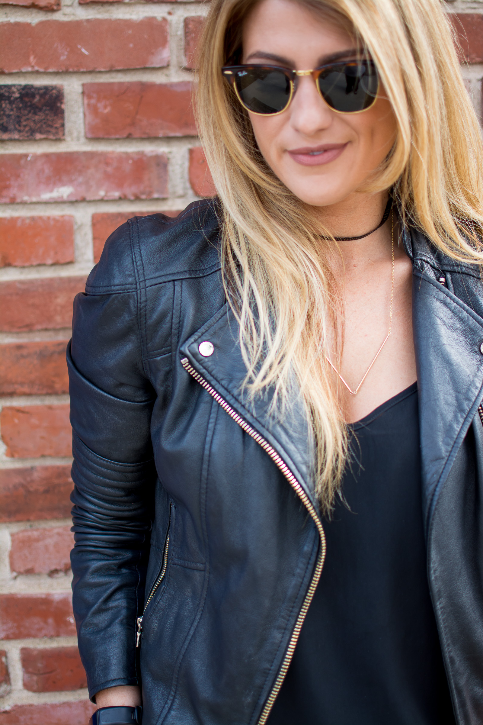 Leather Jacket | Ashley from Le Stylo Rouge