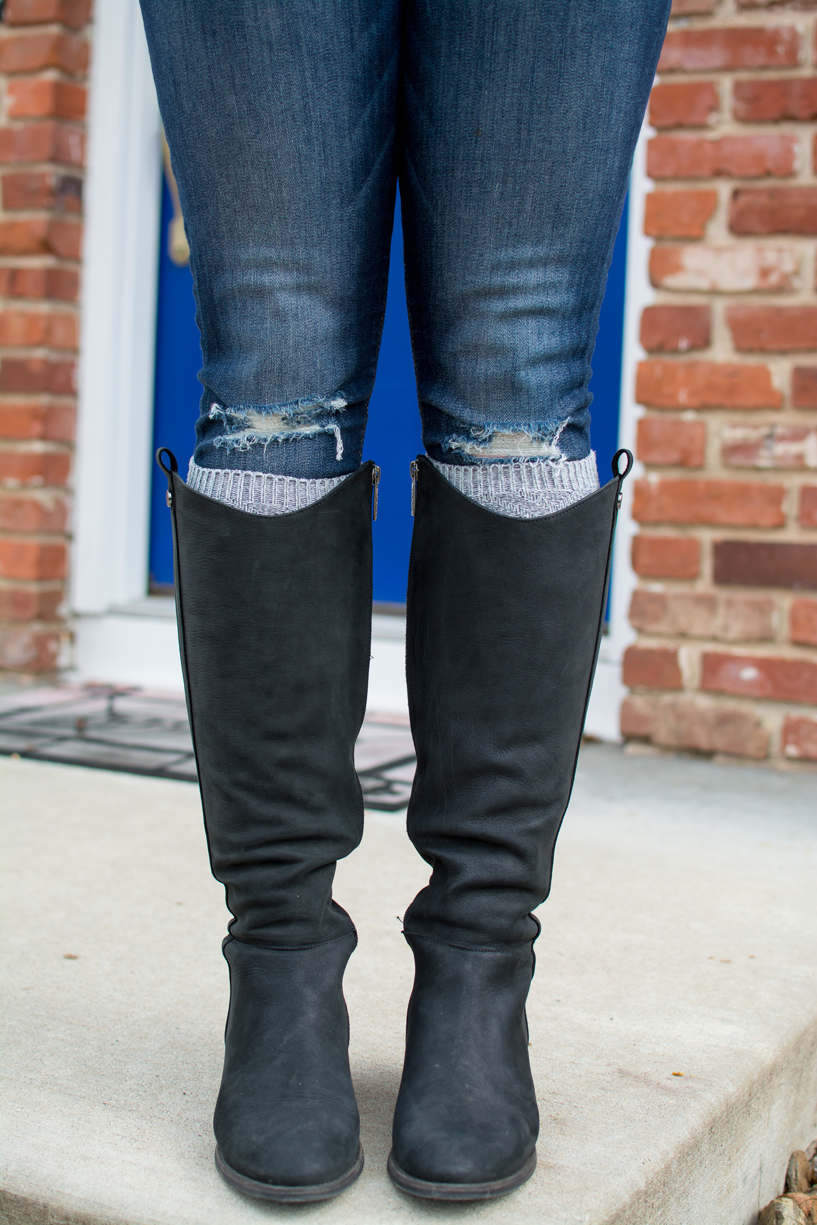 Riding Boots + Tall Socks. | Ashley from Le Stylo Rouge