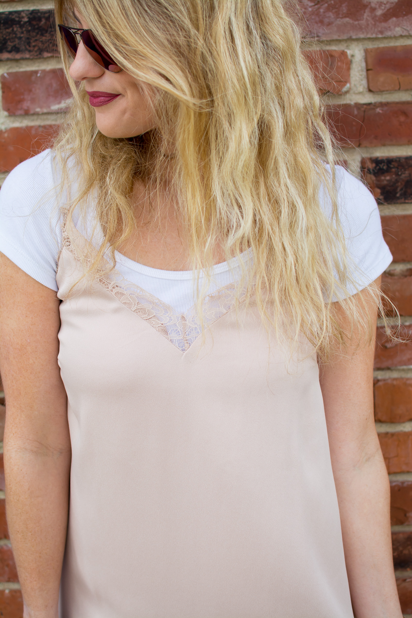 Outfit Idea: T-shirt Under a Slip Dress. | Ashley from Le Stylo Rouge