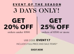 shopbop spring event sale