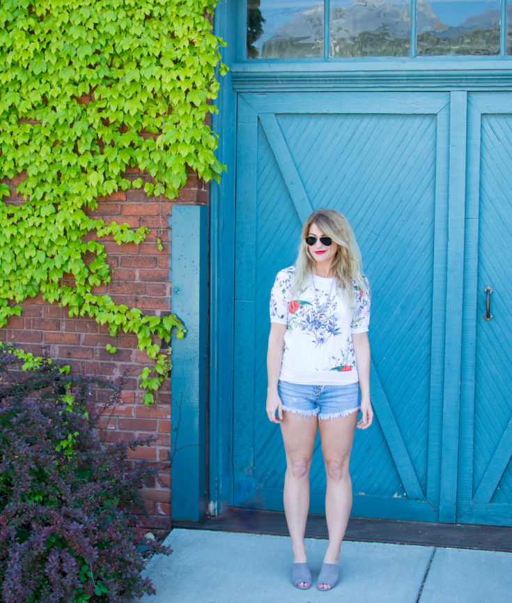 Cutoffs + Mule Sandals to Kick Off Summer. | Ashley from Le Stylo Rouge