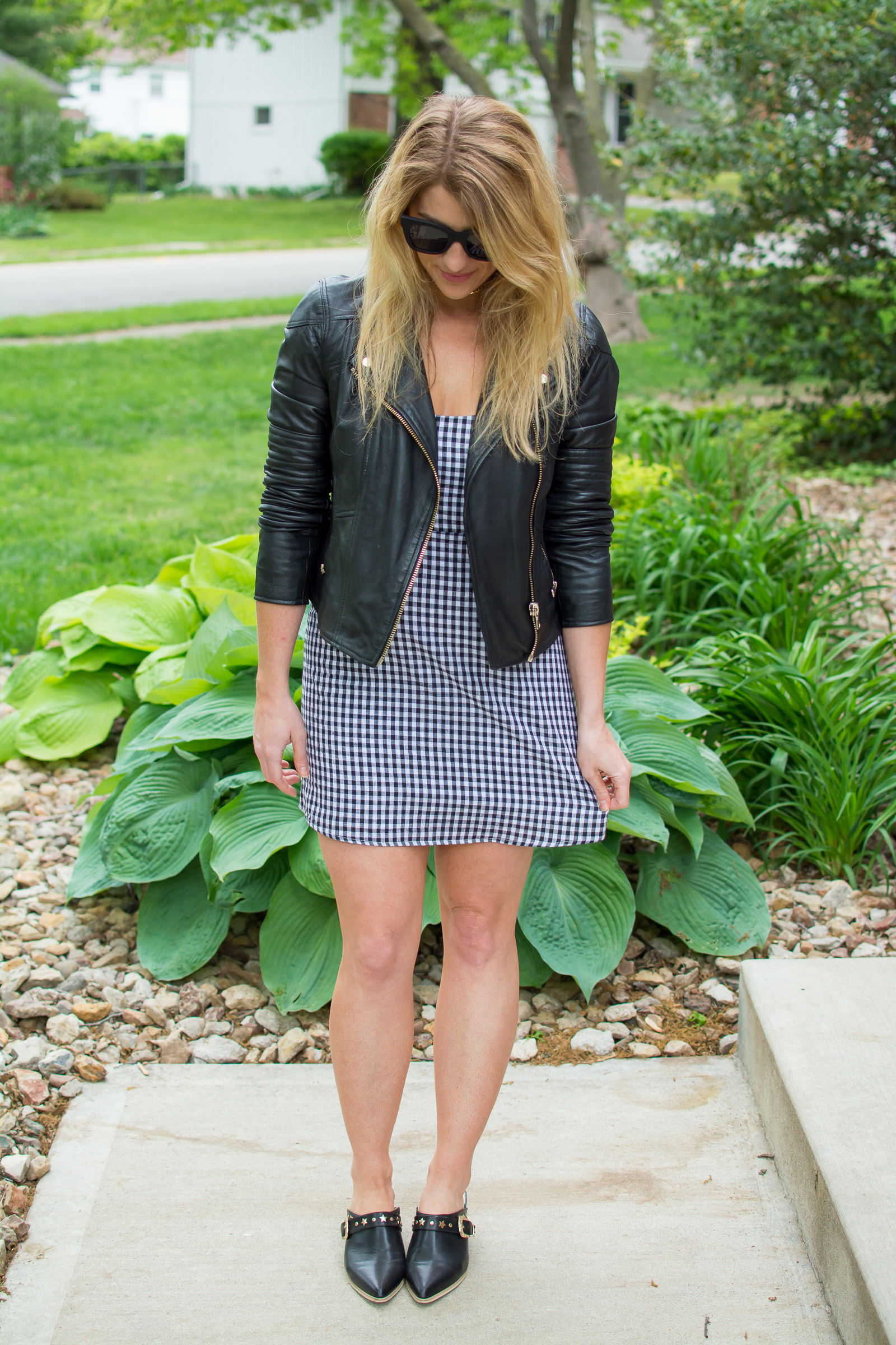 Toughening Up a Gingham Dress. | Ashley from Le Stylo Rouge