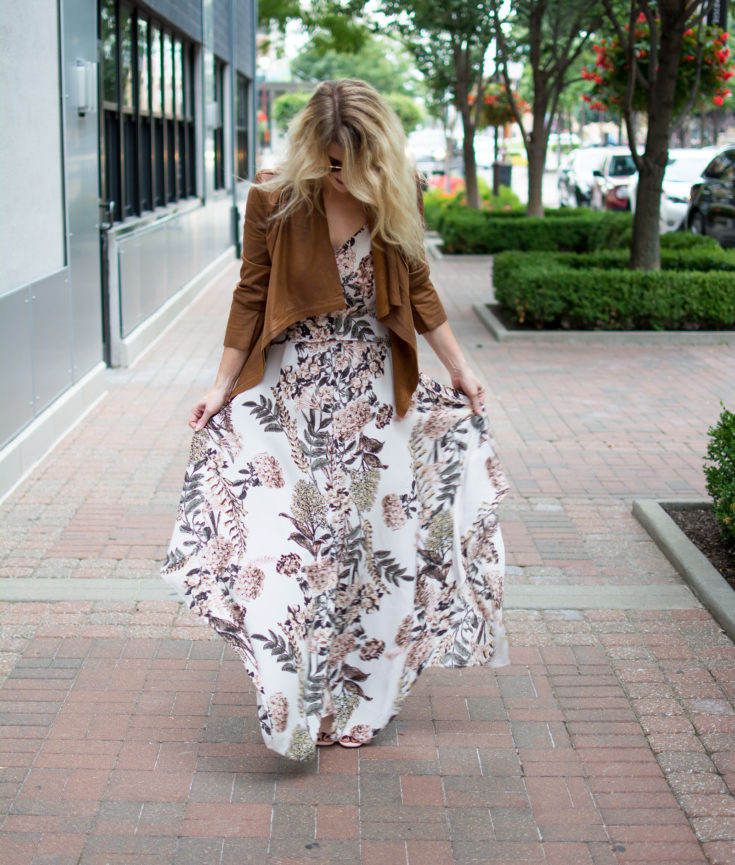Make Your Summer Maxi Dress Fall-Friendly. | Ashley from LSR