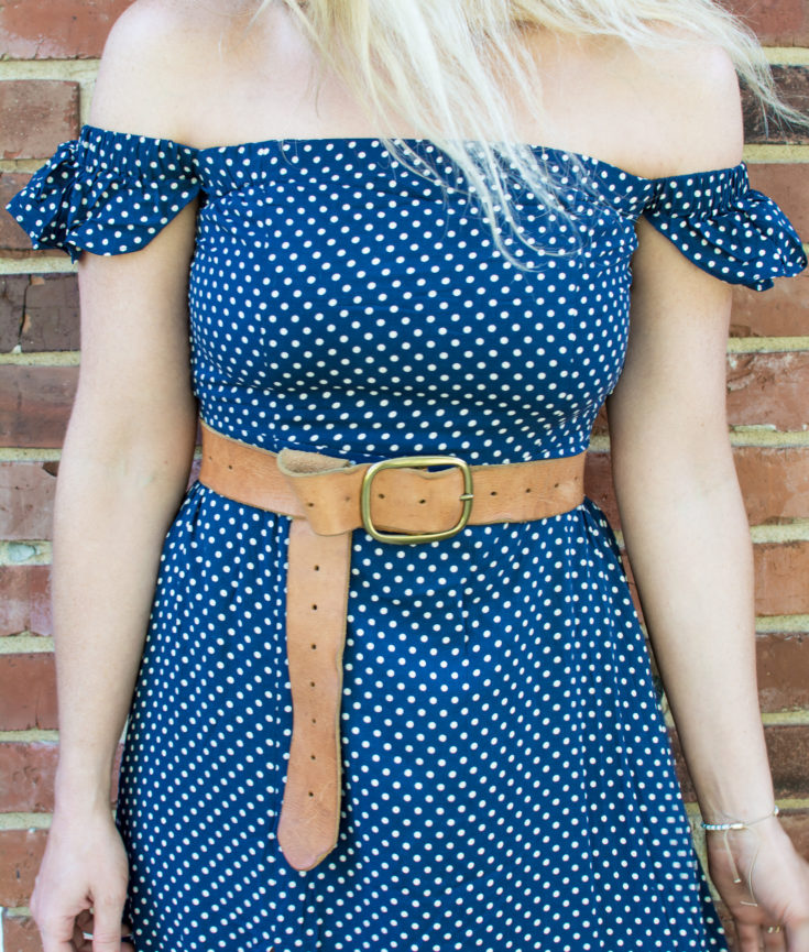 Navy Polka Dot Maxi Dress Perfect for Summer-to-Fall Outfitting. | Ashley from Le Stylo Rouge