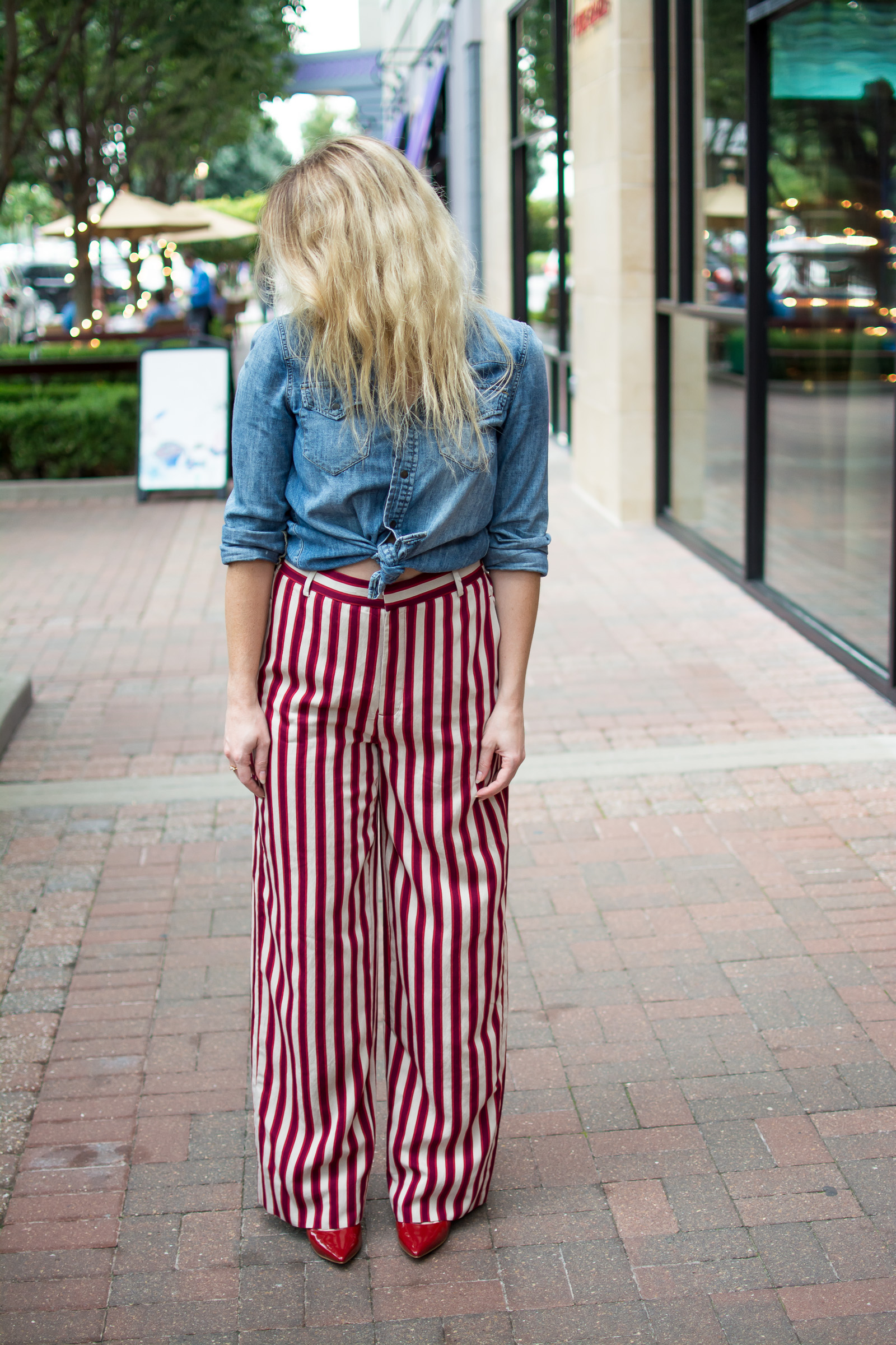Wearing Striped Circus Pants. | Ashley from LSR