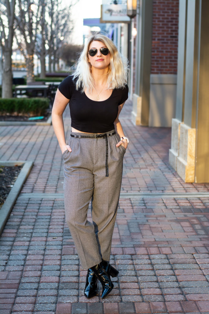 26833a57ed5 90s Trousers with a Crop Top and Space Boots. | Le Stylo Rouge | Bloglovin'